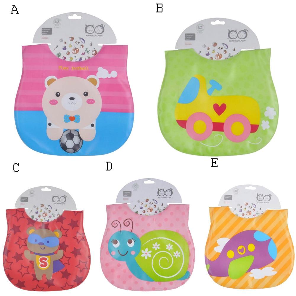 2018 Baby Bibs Cotton Newborn Infants Kids Toddler Cartoon Waterproof Bibs Saliva Towel Newborn Stuff #c