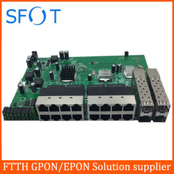POE reverse Switch board, with 16 ports FE + 4 ports SFP
