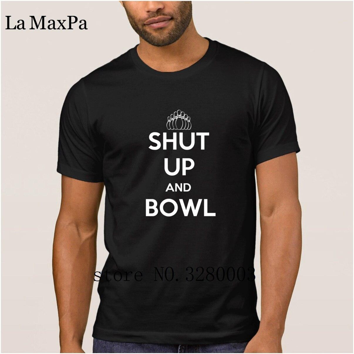 La Maxpa Costume Super men t shirt shut up and bowls t-shirt 2018 Pattern tee shirt man Basic Solid HipHop Tops