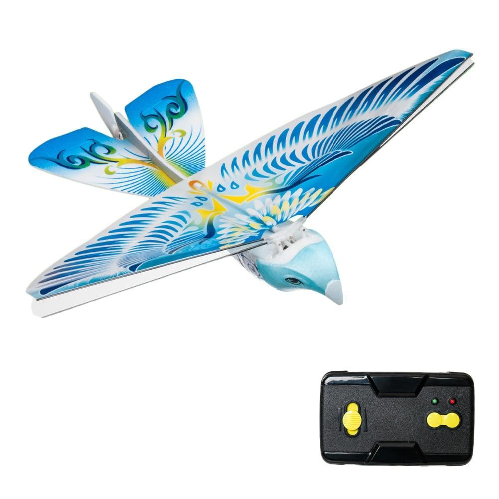 LeadingStar Flying Avitron Bionic Blue Bird Ornithopter RC Remote Control PVC Flying Bird Great RC Flying Toys For Children x com ut175 ilu1 professional pvc flying disc frisbee blue yellow