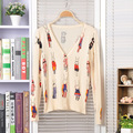 3 Style New Year Gift 2017 Brand Sweater Womens Cardigan Fashion Beautiful Butterfly Rabbit Flower Sweater Knitted Top Quality