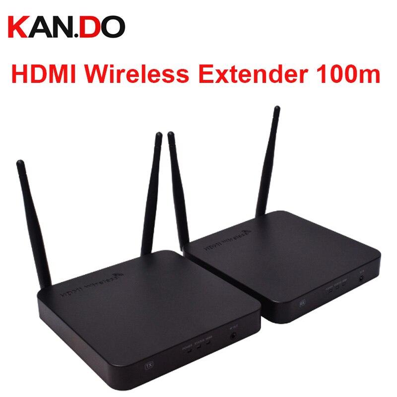 купить HDMI Wireless Extender 100m 2.4G 5.8G WIFI audio and video transmitter 2.4/5G 1080P IR HDMI over Wireless HDMI for PC HDTV DVD по цене 13079.87 рублей