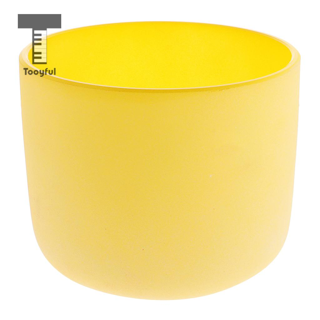 Tooyful Solar Chakra Crystal Singing Bowl E Note High Quality Sound 7 Inch Yellow