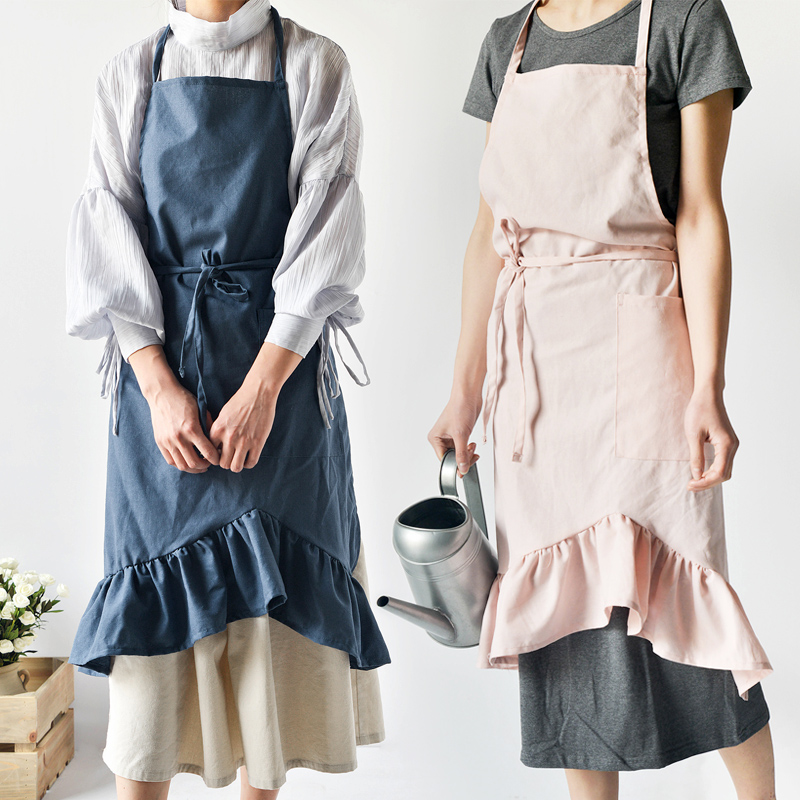 2019selling All Over The Worldcotton And Linen Apron Fashion Contracted Oil Proof Kitchen Apron Adult Sleeveless Household Apron Home