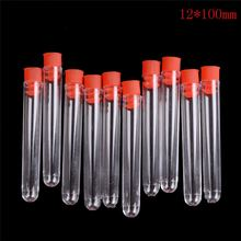 10 stks/partij Plastic Flacon Sample Containers Transparante Laboratorium Test Buizen Met Deksels Lab Supplies(China)