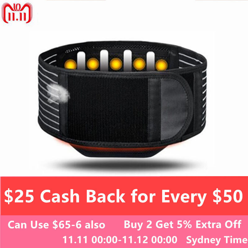 Medical Magnet Therapy Lumbar Protector Keep Warm Elastic Waist Belts Steel Plate Support Prevent Waist Disc Prominent T0414CMK lumbar disc prominent belt protection lumbar strain with stainless steel plate lumbar support for men and women keep warm uterus
