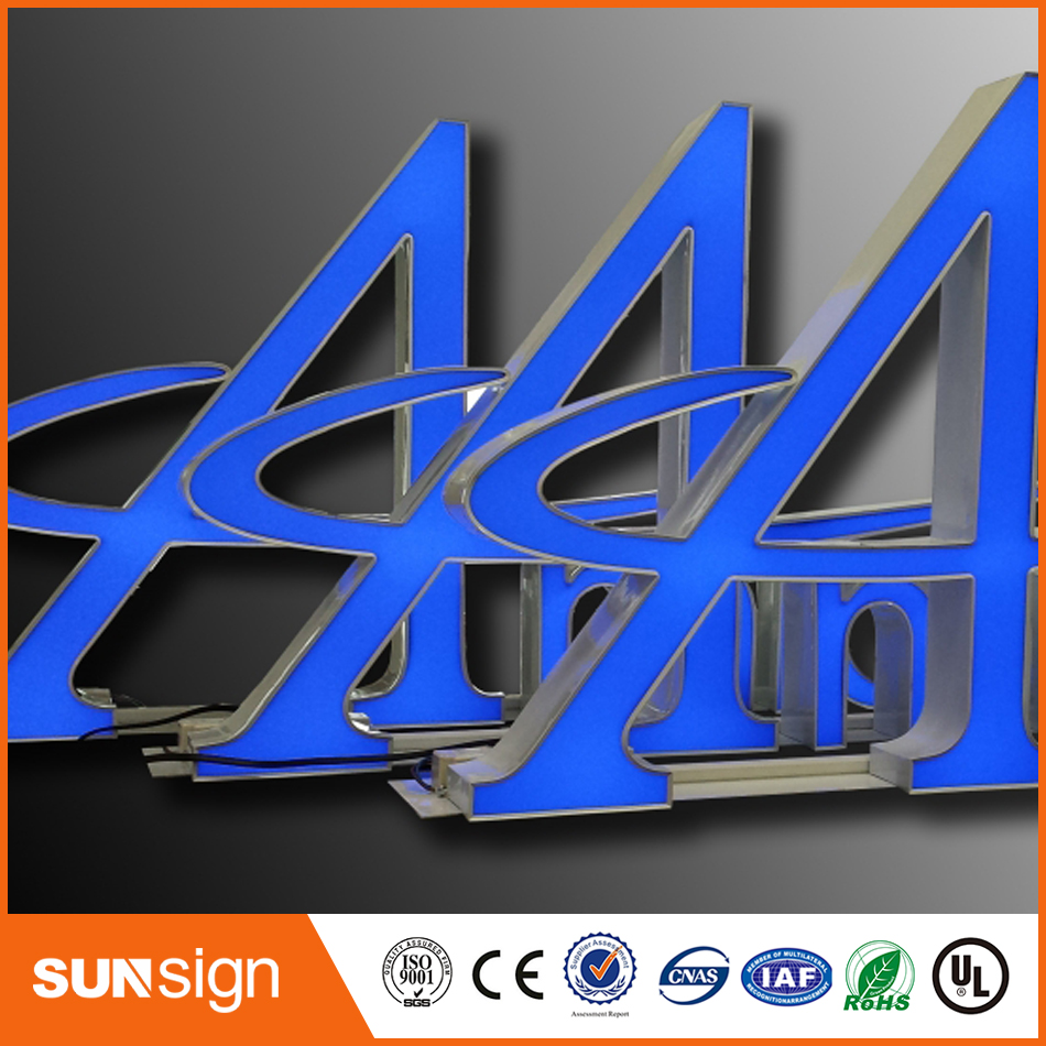 Outdoor 3D LED Lighted Acrylic Channel Letter