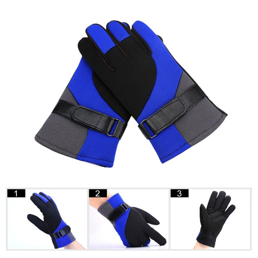 Winter Warm Cycling Racing Gloves Full Finger Anti-slip Motorcycle Protective Gloves Windproof Outdoor Sports Gloves body building sports cyling half finger gloves for women black red