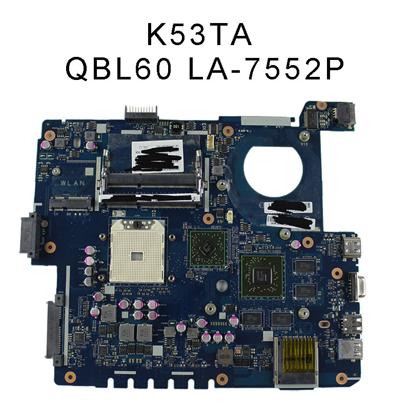 LA-7552P Mainboard For ASUS K53TA K53TK X53T K53T motherboard Non-integrated 100% Tested & working wel