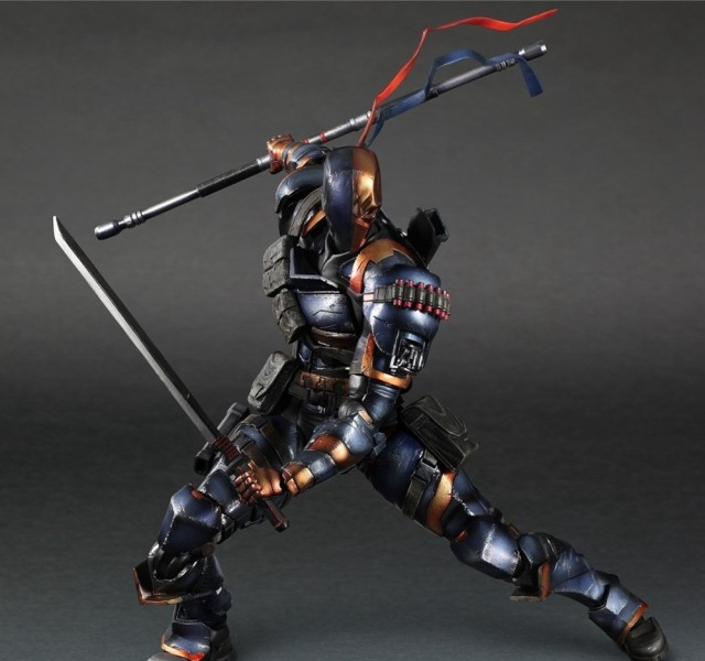 Deathstroke Figure Square Enix Play Arts Kai Variant Deadpool PVC DC Action Figure Terminator Slade Joseph Wilson 27cm Toys super street fighter iv akuma gouki white variant play arts kai action figure
