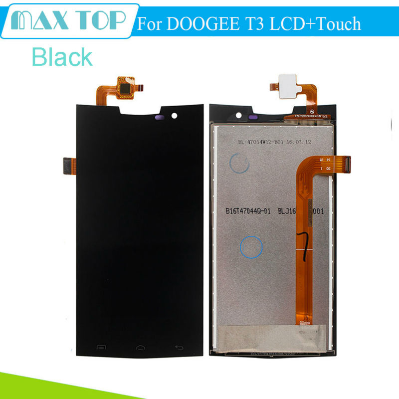 ФОТО 100% Tested For DOOGEE T3 LCD Display and Touch Screen 4.7 Inch Digitizer Assembly 1280*720 Display For DOOGEE T3 Accessories