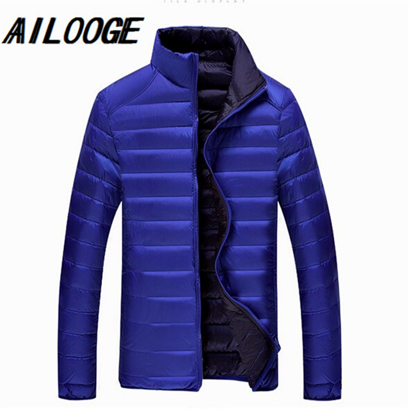 9XL 8XL 7XL 6XL Winter Duck down jacket men 90% Down Content thin ultra light down jacket winter long sleeve solid winter coats