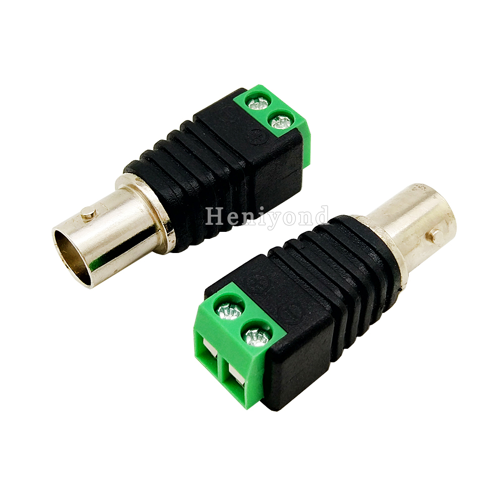 10pcs Cat5 to BNC Female Connector Coax for CCTV Camera BNC UTP Video Balun Connector Adapter BNC Plug For CCTV System gakaki 10pcs wholesale1 bnc female connector to 2 female bnc coupler splitter plug adapter 3 way video adapter monito