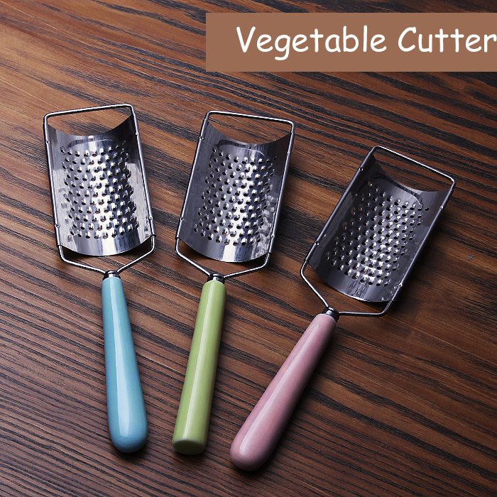 1pc colorful Stainless steel Vegetable Cutter Caremic handle Shredder Cutting for Kitchenware Home Kitchen Tool freeshipping