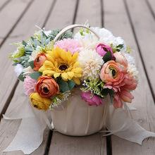 6 sztuk jedwabne róże sztuczne słoneczniki bukiety kwiatowe żółty narzeczonej sztuczne kwiaty na ślub dekoracje dla domu stół jesień tanie tanio OT201 Jedwabiu Ślub Bukiet kwiatów Róża 15cm 5 91in 22cm 8 66in Artificial Flowers Home Decor Wedding Flowers Decoration