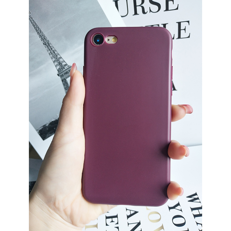 Matte plain silicone case for iphone6 soft TPU phone back cover for iphone7 case for iphone7plus case for iphoneX case 8 8plus