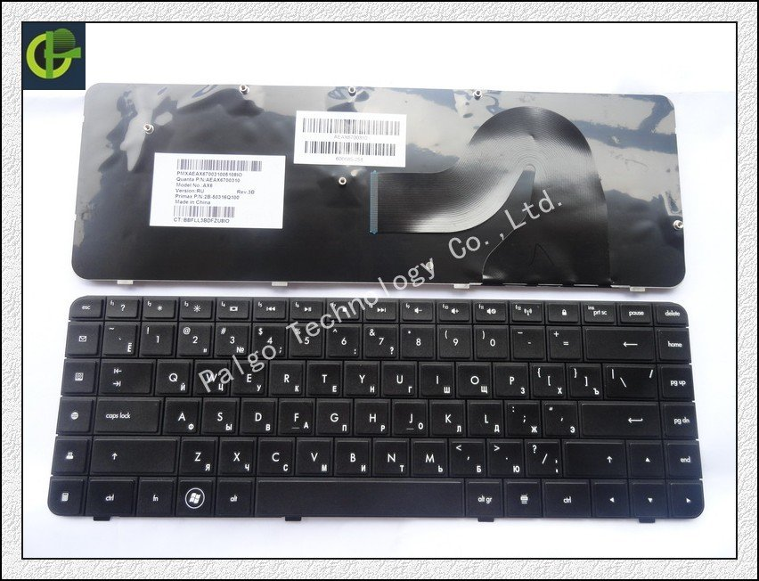 Russian Keyboard for HP Compaq Presario CQ56 G56 CQ62 G62 AX6 RU G56-100 G62-340 AEAX6700310 2B-50316Q100 606685-251 keyboard цена