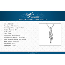 Infinity 0.1ct Cubic Zirconia Pendant Gift for Lovers 925 Sterling Silver Jewelry Accessories Not Include A Chain