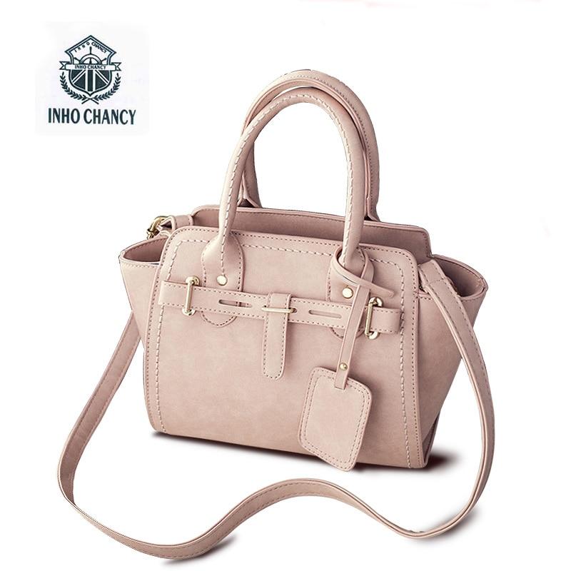 2017 ევროპელი ამერიკელი ქალი უბრალო ველური ტყავის ჩანთა Shoulder Messenger Bag Wings bag! Inho Chancy Michael დიზაინერი ცნობილი ბრენდები