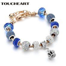 Toucheart 2018 Пользовательские синие короны браслет и браслеты