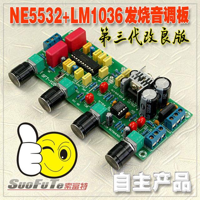Placa Tom LM1036 + NE5532 Preamp Amplificador Estéreo Amplificador De Áudio Board