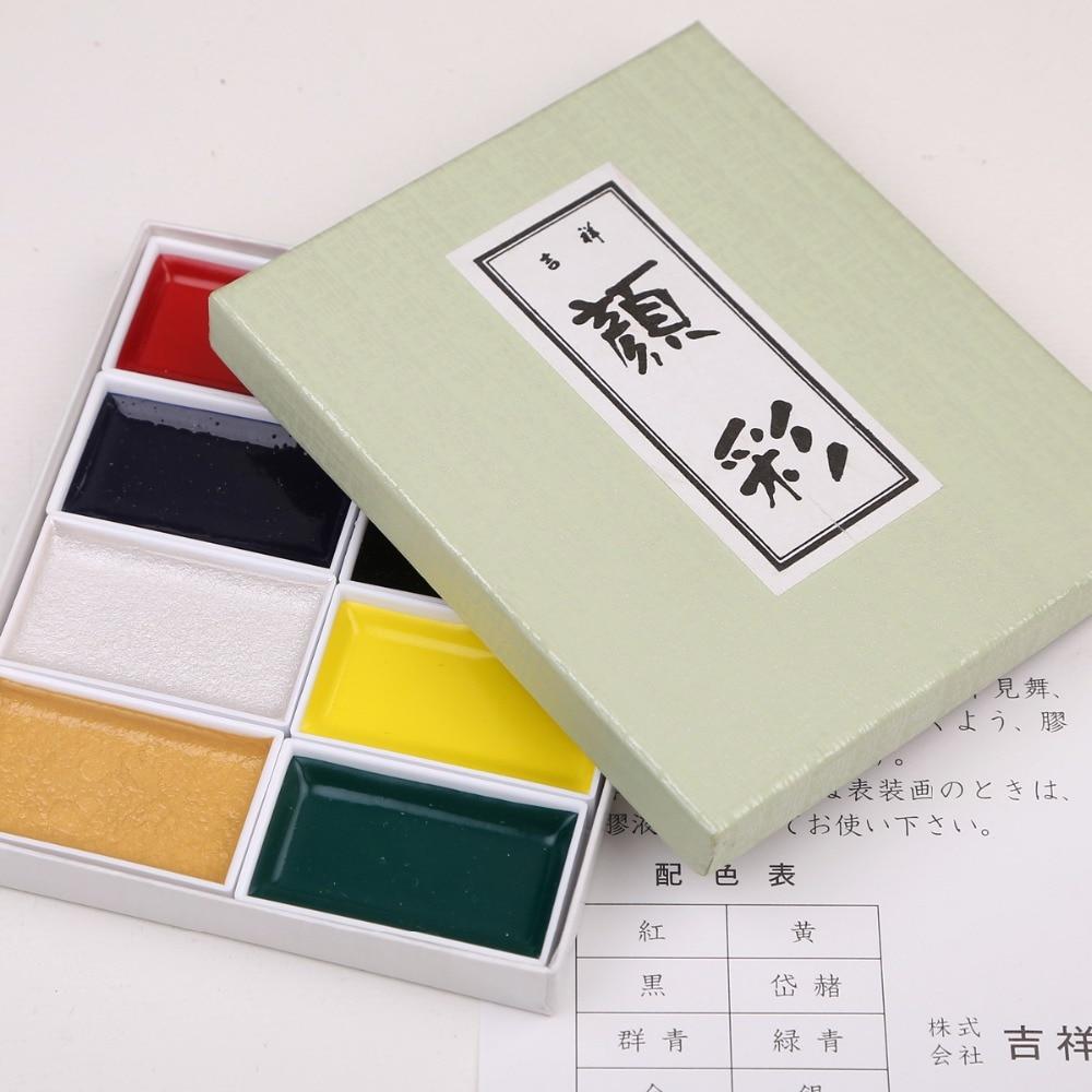 Japan Auspicious 12/18/24/35/48/60 Water Color Pearl Color Pigment Set Super Quality Professional Sumi-e Watercolor Paint