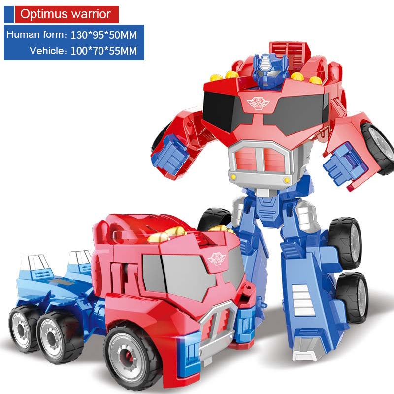 Alloy Robot Transformation Car Toys Alloy Deformation P Olice Robot Bus Toy For Kids Children Birthday Christmas Gift
