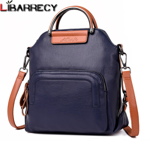 Image 1 - Fashion Women Backpack Large Capacity Travel Backpacks Soft Leather Shoulder Bags for Women Famous Brand Backpack Female Mochila