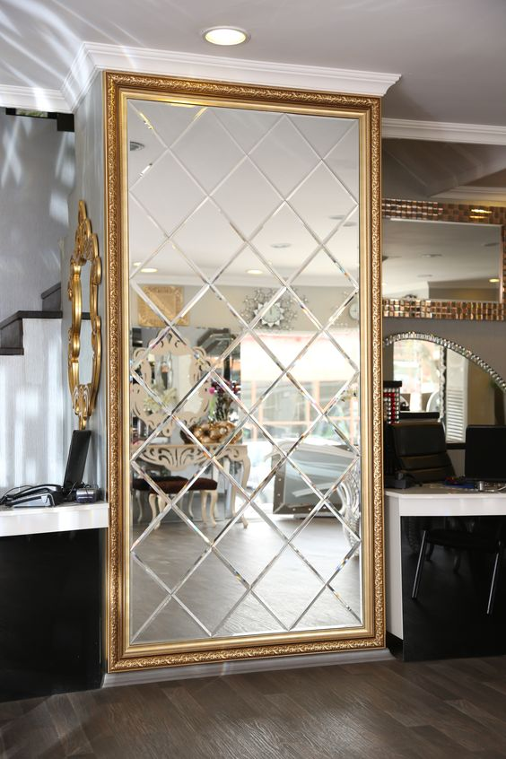 Customized Luxury Beveled Glass Mirror for Living room ...