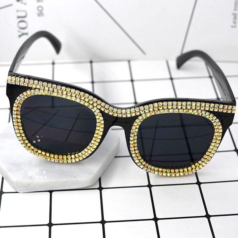 2017 NEW Fashion Ursprünglicher Entwurf Frauen Sonnenbrille Vintage Treiben Sonnenbrillen Für Frauen Luxus Kristall katzenauge sonnenbrille