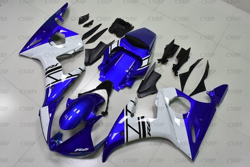 YZF600 R6 04 05 Bodywork YZFR6 2003 2005 Blue White Fairing Kits for YAMAHA YZFR6 04