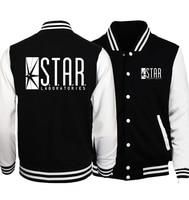 STAR S T A R Labs Print Baseball Uniform 2017 Spring Jacket Men Jumper The Flash