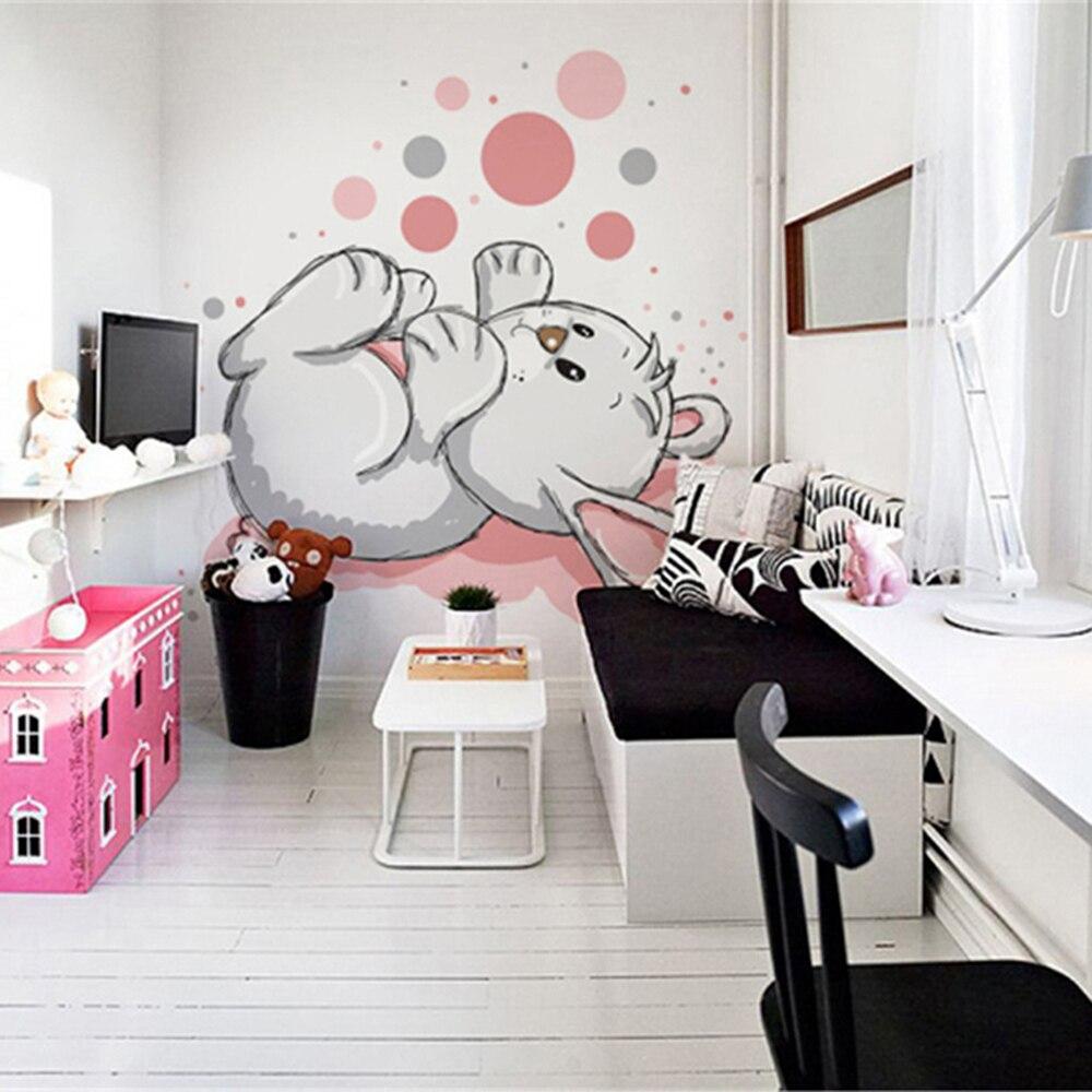 Cartoon rabbit Childrenroom livingroom background 3D Wallpaper Mural ...
