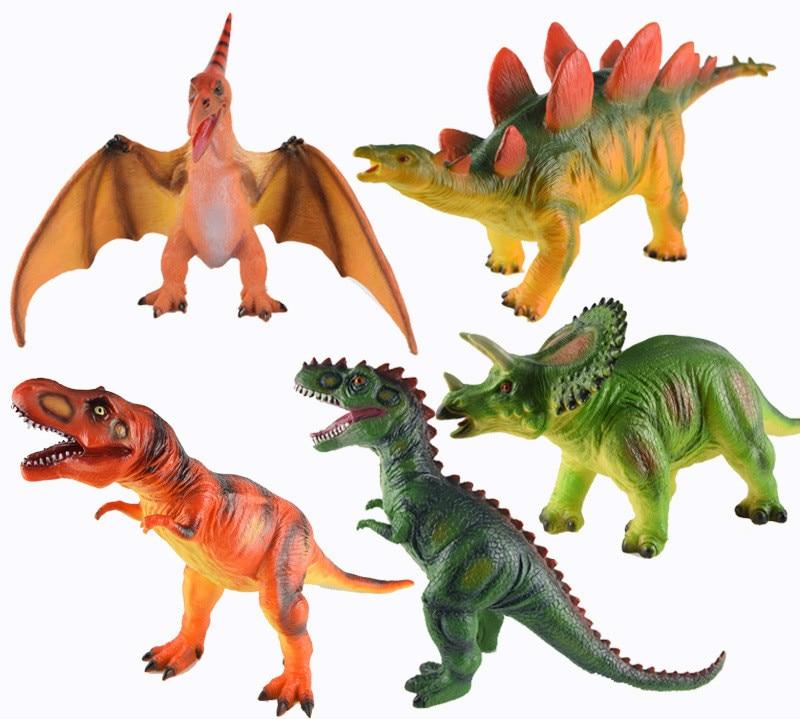 Dinosaur Tyrannosaurus Rex Stegosaurus Triceratops Animal Figures Static Model Tyrannosaurus Stegosaurus Pterosaur лего кубики lego 75918 tyrannosaurus rex