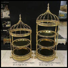 1 PCS Dessert table decoration cold meal set tray display rack wrought iron bird cage afternoon tea snack cake