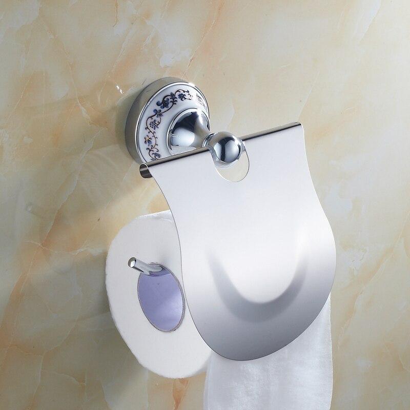 Antique Bathroom Accessory Set Ceramic Zinc alloy Metal Chrome ...