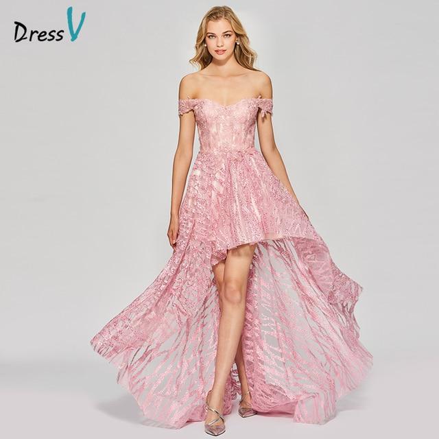 Dressv 2017 Nuevo elegante Rosa vestido largo fuera del hombro una ...