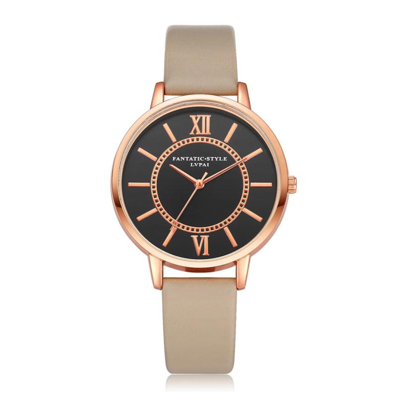 New Arrive 2018 Fashion Quartz Watch Women Girl Roman Numerals Leather Band Wrist Bracelet Watches Relogios dropship