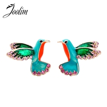 JOOLIM High End Enamel Bird Stud Earring Anti Allergy Wholesale Quality