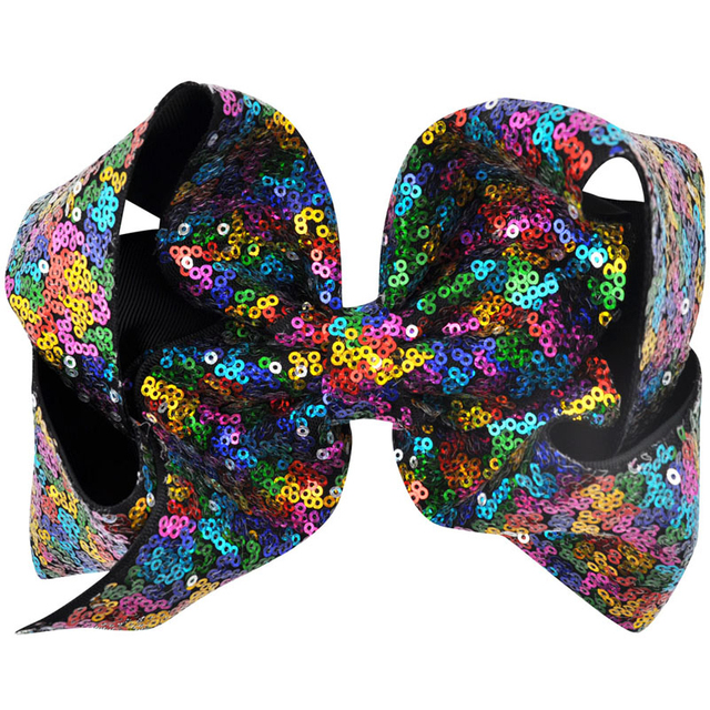 Girl's Sequin Grosgrain Ribbon Hair Bow