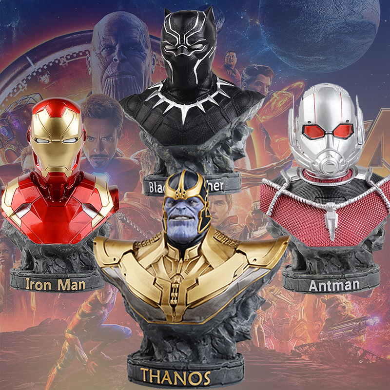 COMIC CLUB IN STOCK the Avengers black panther Iron man Antman thanos GK bust figure toy for