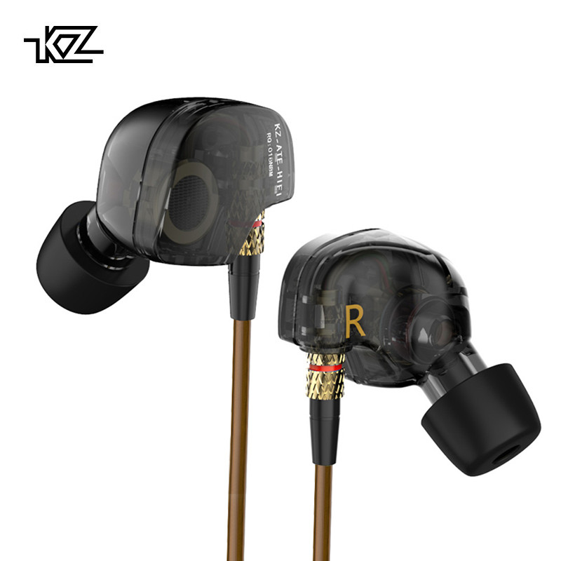 KZ Special ATE ED9 Dynamic Nozzle Earphone In Ear Monitors HiFi Earbuds With Microphone Transparent Sound For Andriod iOS 60%OFF fiio f1 dynamic in ear monitors earbuds high performance potential earphone with in line microphone and remote 3 5mm jack 120cm