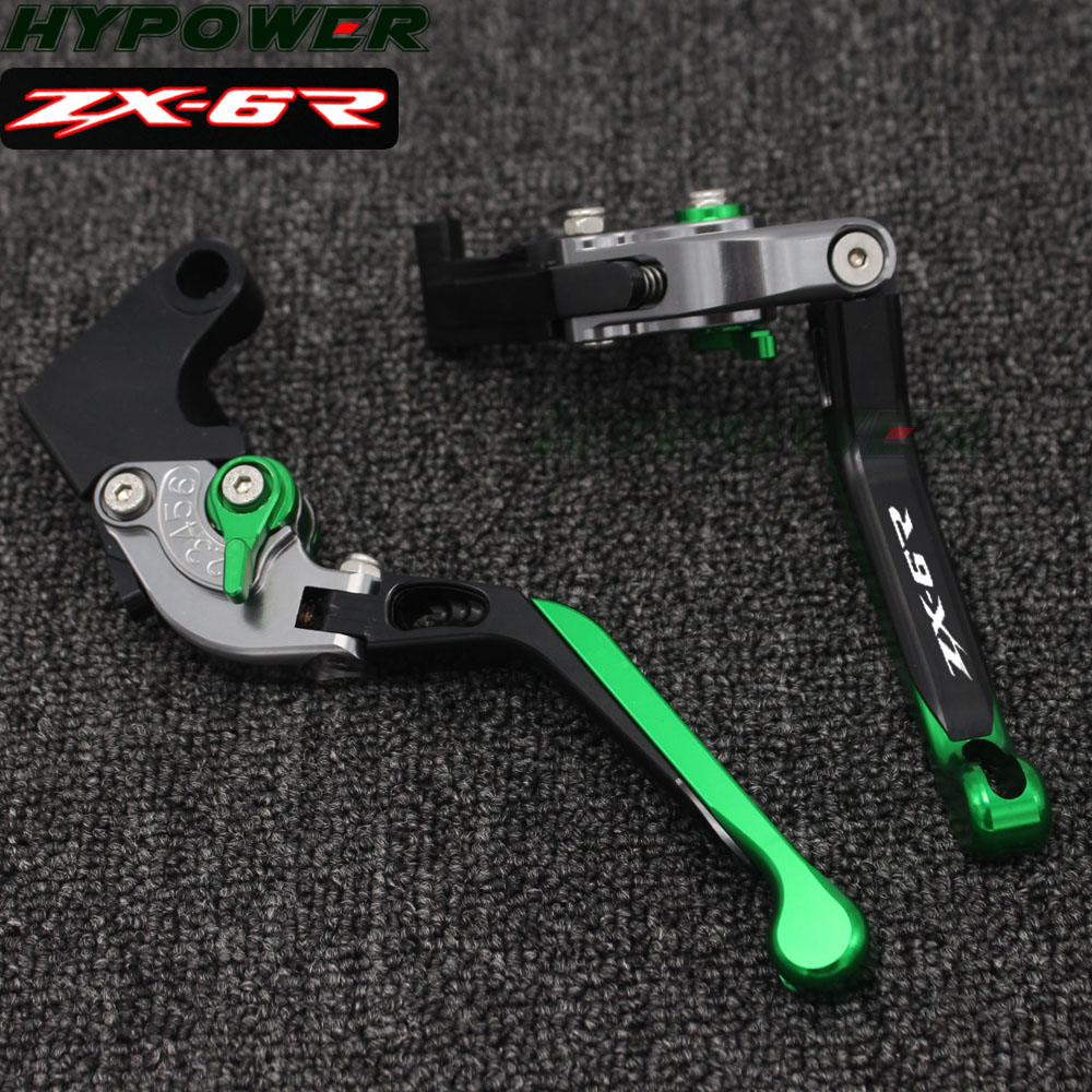 For Kawasaki ZX6R ZX-6R ZX 6R 2000 2001 2002 2003 2004  CNC Adjustable Motorcycle Brake Clutch Levers For Kawasaki ZX6R ZX-6R ZX 6R 2000 2001 2002 2003 2004  CNC Adjustable Motorcycle Brake Clutch Levers