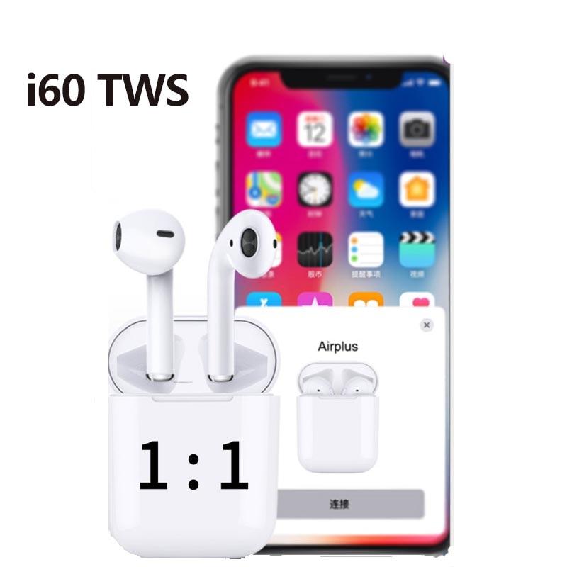 I60 Bluetooth 5.0 Mini Tws 1:1 Air écouteur sans fil écouteur dans l'oreille écouteurs casque oreillettes avec Microphone i7s i9s i20 i30
