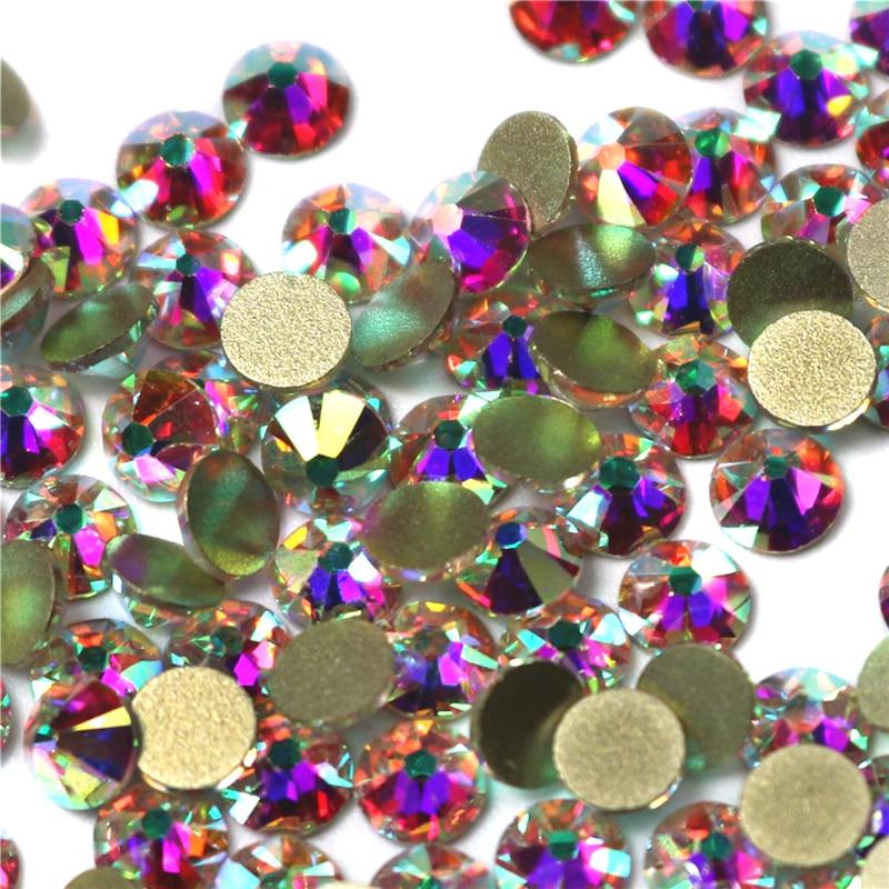 Mix Size 2058NoHF Crystal AB crafts Nail Art Flat Back Non Hotfix Glue on 3d Nail Art diy Pixie crystal Rhinestones super shiny 5000p ss16 4mm crystal clear ab non hotfix rhinestones for 3d nail art decoration flatback rhinestones diy