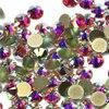 Mix Size 2058NoHF Crystal AB crafts Nail Art Flat Back Non Hotfix Glue on 3d Nail Art diy Pixie crystal Rhinestones