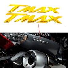 "Cor do ouro para a yamaha t max-/tmax 530 500 motocicleta roda tanque decalque emblema emblema 3d logo ""TMAX"" Pad Protector Tampa Da Etiqueta"