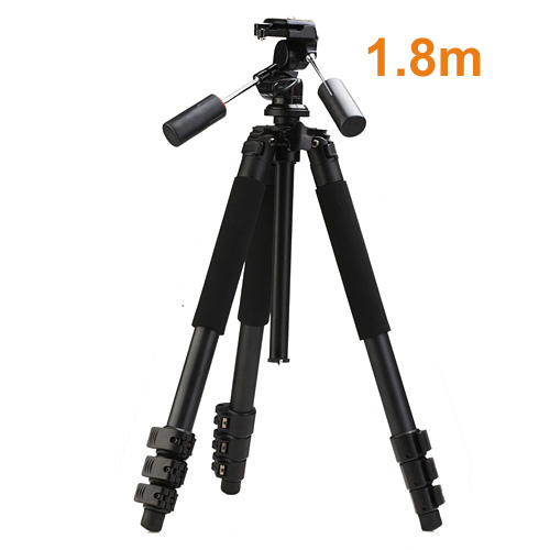 High Quality Professional 1.8m Aluminum MBL-620 Photo Video Tripod with 3-way Pan Head Heavy Duty Tripod Digital Camera Tripod