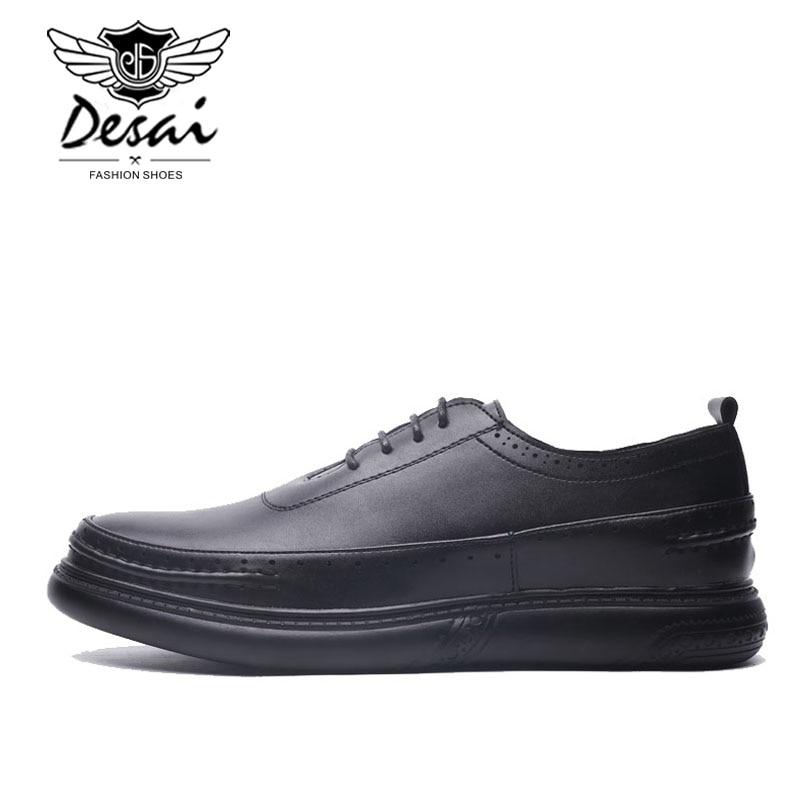 Grande Black Negócios Sapatos Coreana Novos Dos Da Formais De Casuais Oxfords 45 Couro Tamanho Tendência Versão 2019 Homens 37 xRqBwUx