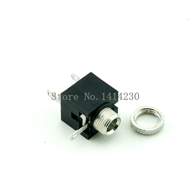 10Pcs Good Quality PJ201M 2.5mm Female Audio Connector 3 Pin DIP Headphone Jack Socket Mono Channel PJ-201M